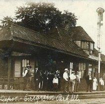 Image of Grand Trunk Depot. - Postcard
