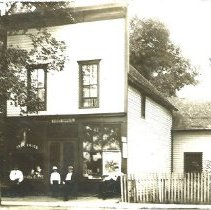 Image of Evergreen Park Post Offfice and Grocery Store, circa 1912. - Print, Photographic
