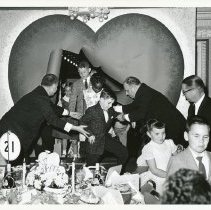 Image of Variety Club of Illinois Event for Joe Swedie involving children, 1961. - Print, Photographic