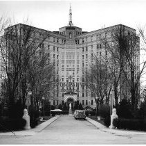 Image of Entrance of Little Company of Mary Hospital, circa 1930s. - Print, Photographic