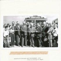 Image of Dedicate Kedzie Bus Extension 1946 - Print, Photographic