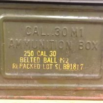 Image of 250 Caliber Ammunition Box - Holder, Ammunition