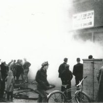 Image of Fire at Panzos' Store, 95th and Kedzie - Print, Photographic