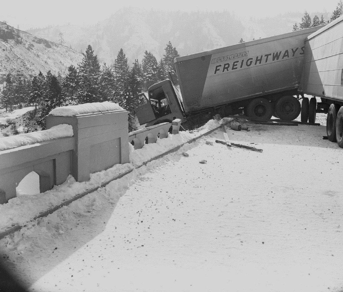 Arch Bridge Accident Near Perry, Oregon Circa 1950