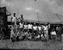 Image of CWi 356 - Posed Group of Employees, Al G. Barnes Circus.