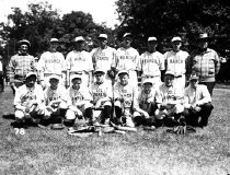 Image of CWi 167 - 101 Ranch baseball team posing in their uniforms.