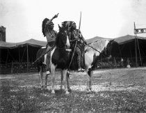 Image of CWi 425 - Two Native Americans on Horseback, Miller Bros. 101 Ranch Wild West