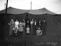 Image of CWi 409 - Group Portrait of the Sideshow Performers and Workers, Campbell Bros. Circus, 1909