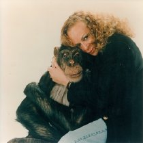 Image of CWi 4881 - Pam Rosaire and her chimp Newton