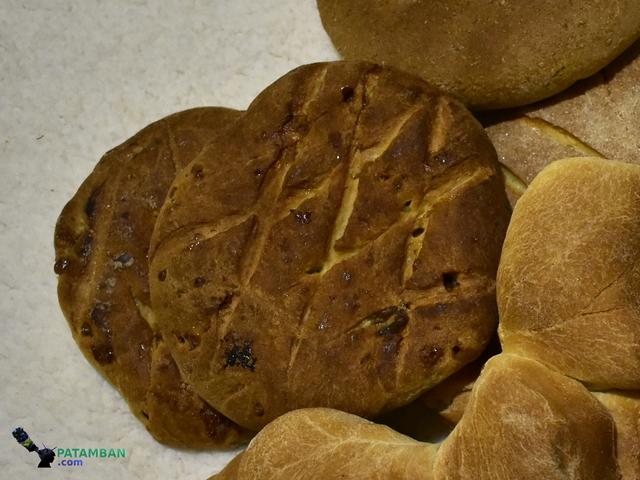 piezas de pan de fina patamban