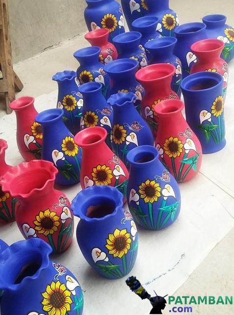 Floreros rusticos de patamban
