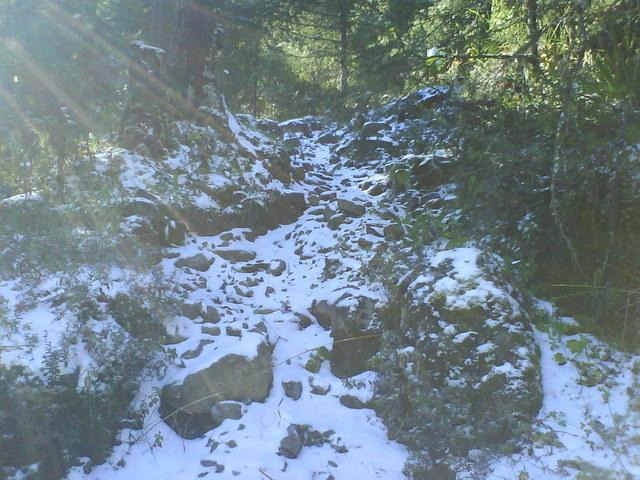 El camino esta lleno de nieve