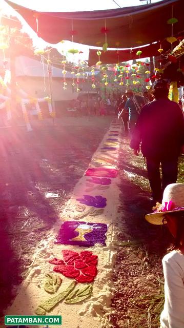 Fiesta cristo rey tapetes patamban