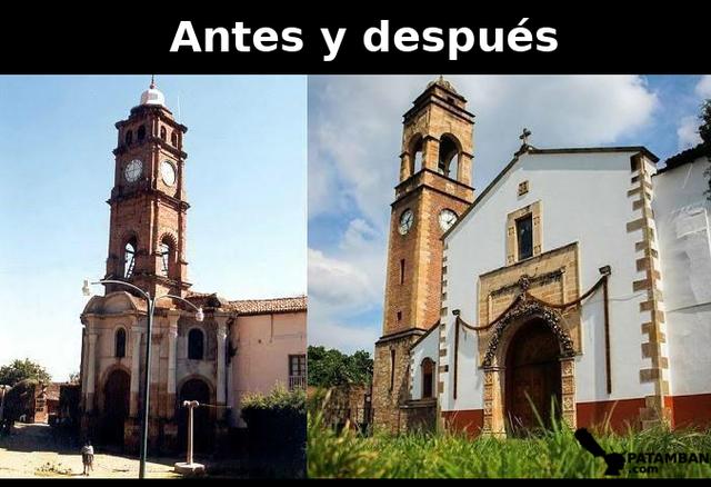 Reconstrucción de la iglesia por el temblor del 95
