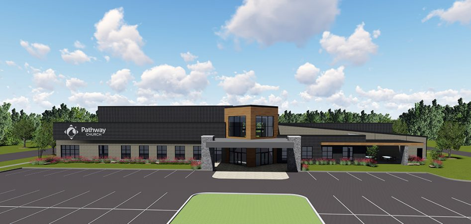 New building rendering front view