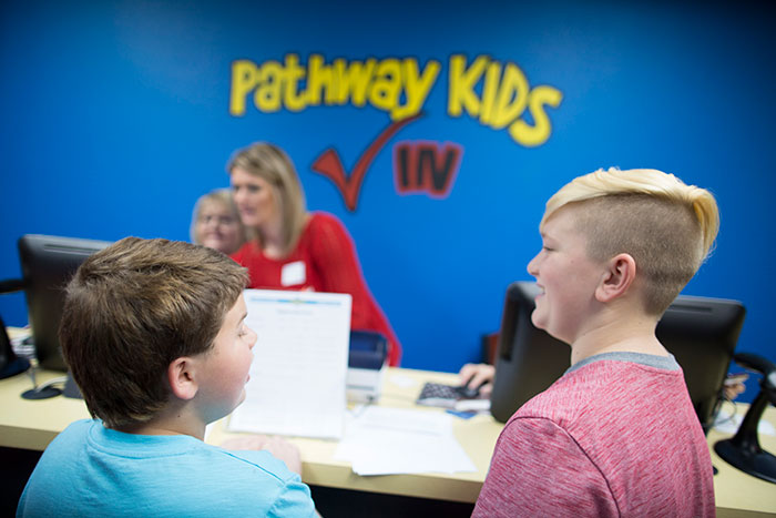 Check-In at Pathway Kids Ministry