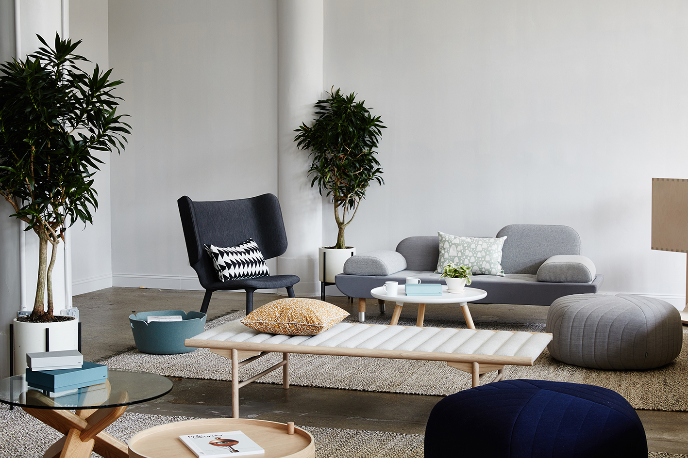 Common seating area in the Dots office