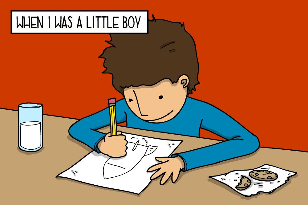 When I was a little boy