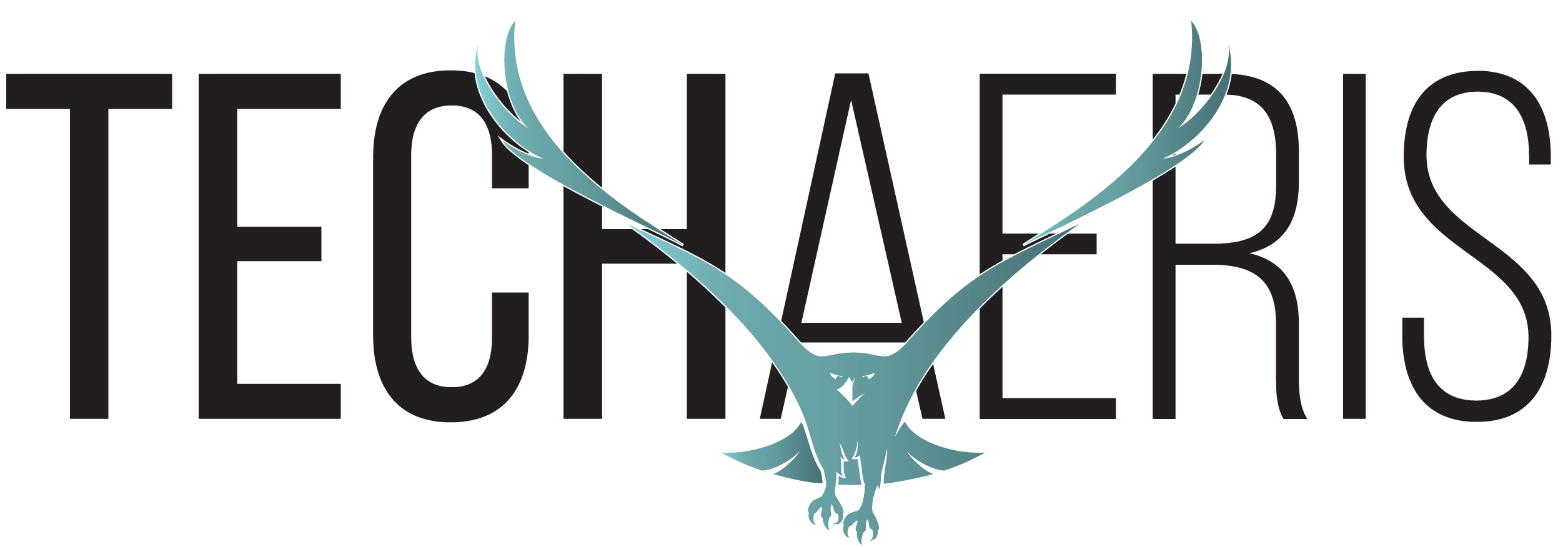 Techaeris Logo 2.0 Black Text