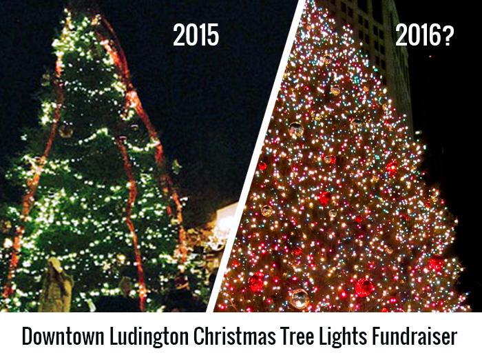 help us light up the downtown ludington christmas tree - Light Up Christmas Tree
