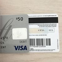 ANY VISA MasterCard AmEx Gift Card