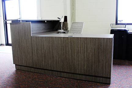 PAYGLBZIRARECEP Global Zira Reception Desk Used Office Furniture Clearance Showroom