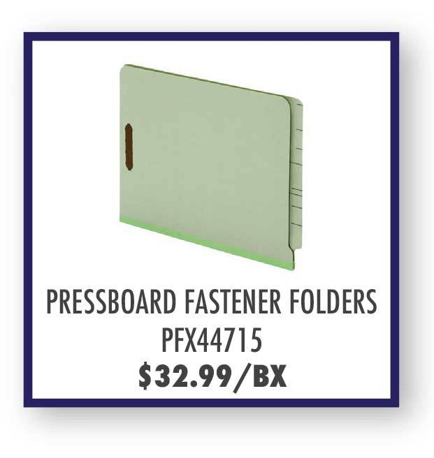 Pendaflex End Tab Pressboard Fastener Folders