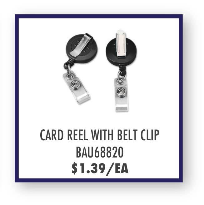 Baumgartens Card Reel with Belt Clip