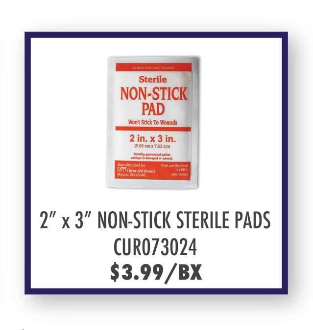 Non-Stick 2'' x 3'' Sterile Pads