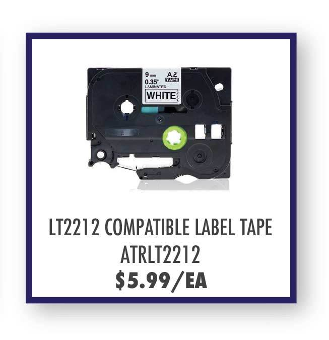 Aster LT2212 Label Tape, Brother TZe221/TZe-221 Compatible P-Touch Label Tape