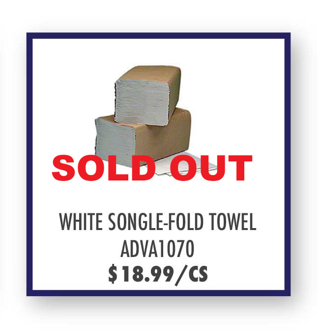 Advantage White Singlefold Towels