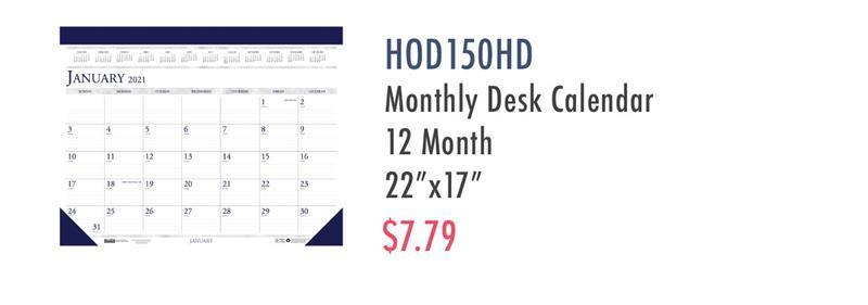 HOD150HD House of Doolittle Perforated Top Desk Pad Calendar