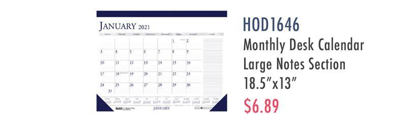 HOD1646 House of Doolittle Small Blocks 12-Month Desk Pad