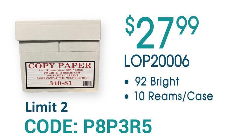 Copy Paper Sale LOP20006