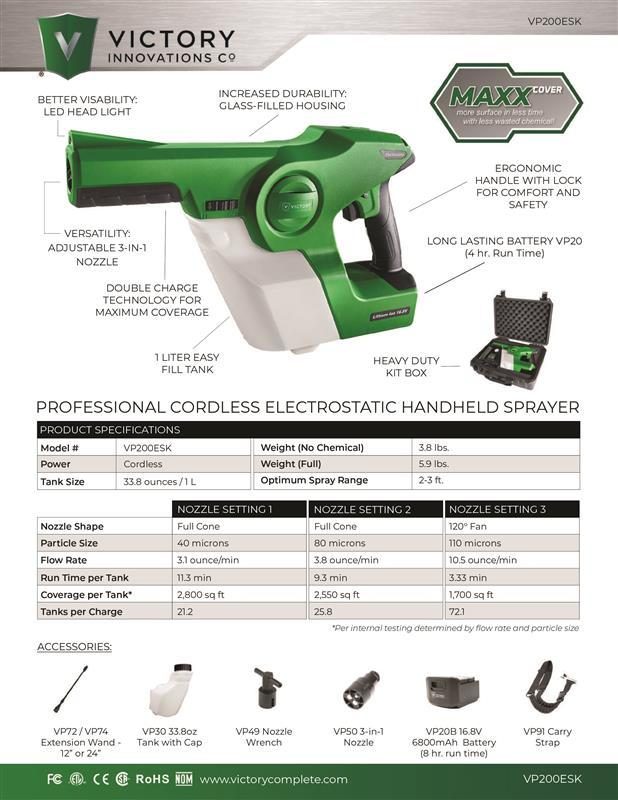 Electrostatic Handheld Sprayer