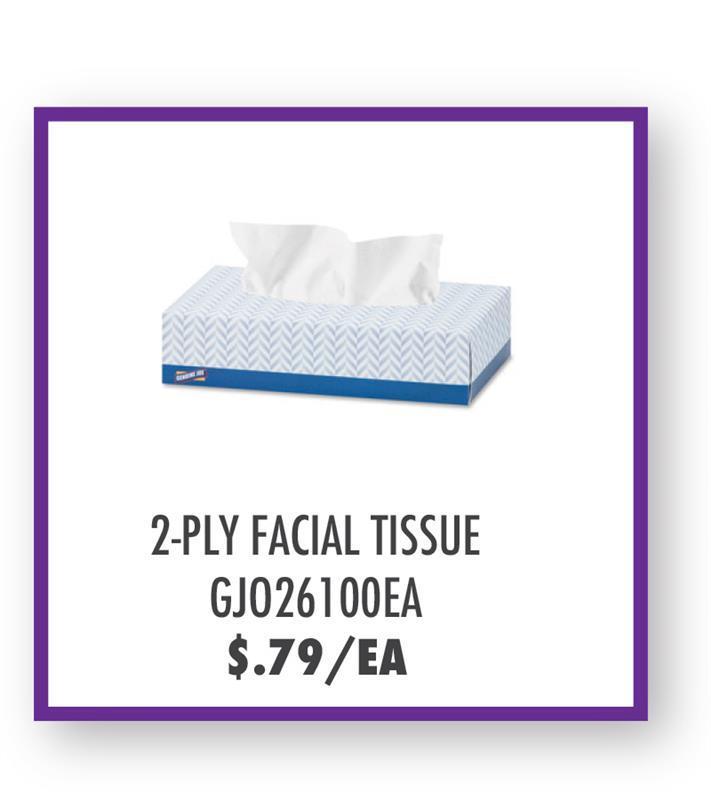 GJO26100EA Genuine Joe 2-Ply Facial Tissue