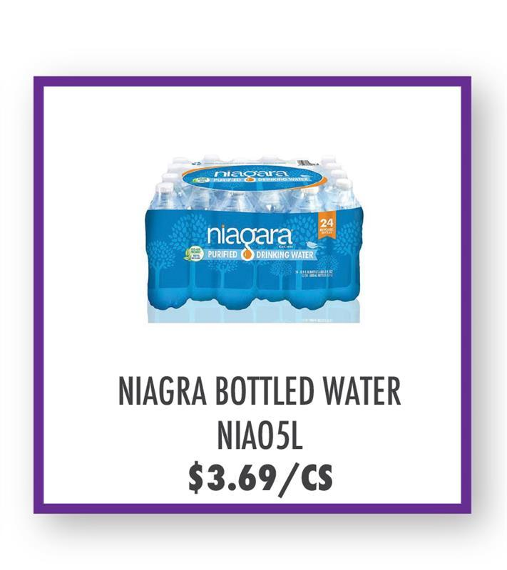 NIAO5L Niagra Bottled Water 16.9 oz 24 pack