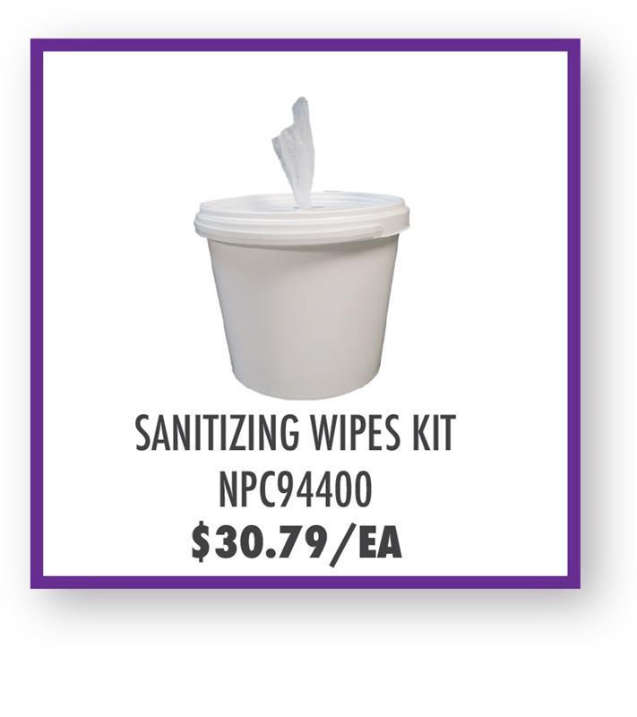 NPC94400 Sanitizing Wipe Kit