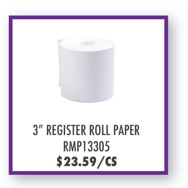 "RMP13305 3"" Register Roll Tap Overstock Sale"