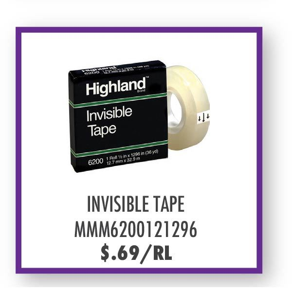 MMM6200121296 Invisible Tape Overstock Sale