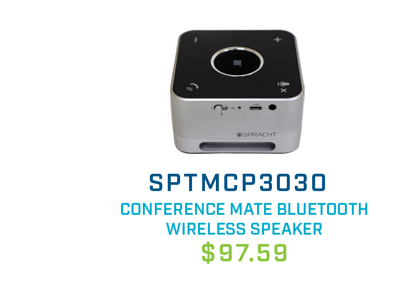 SPTMCP3030 Spracht Conference Mate Combo Bluetooth Wireless and USB Combo Speaker