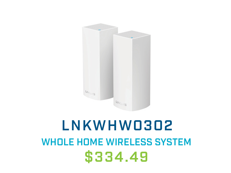 LNKWHW0302 Linksys Velop IEEE 802.11ac Whole Home Wireless Mesh System