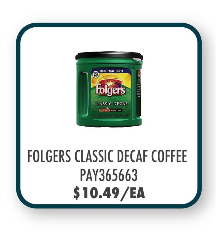 PAY365663 Folgers Classic Decaf Coffee