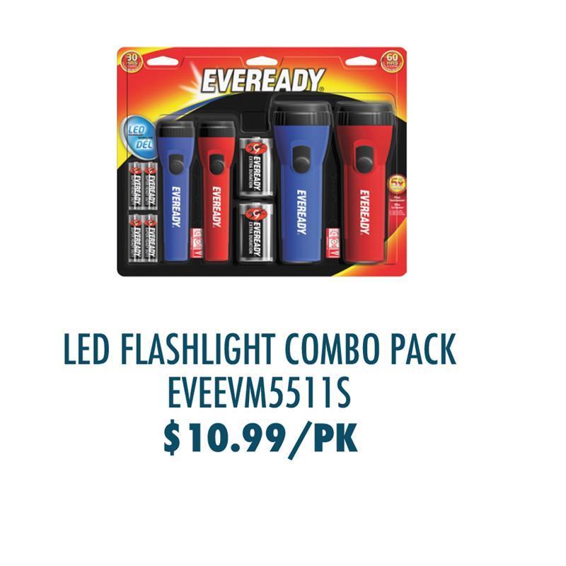 EVEEVM5511S Energizer Holdings, Inc Energizer LED Flashlight Combo Pack