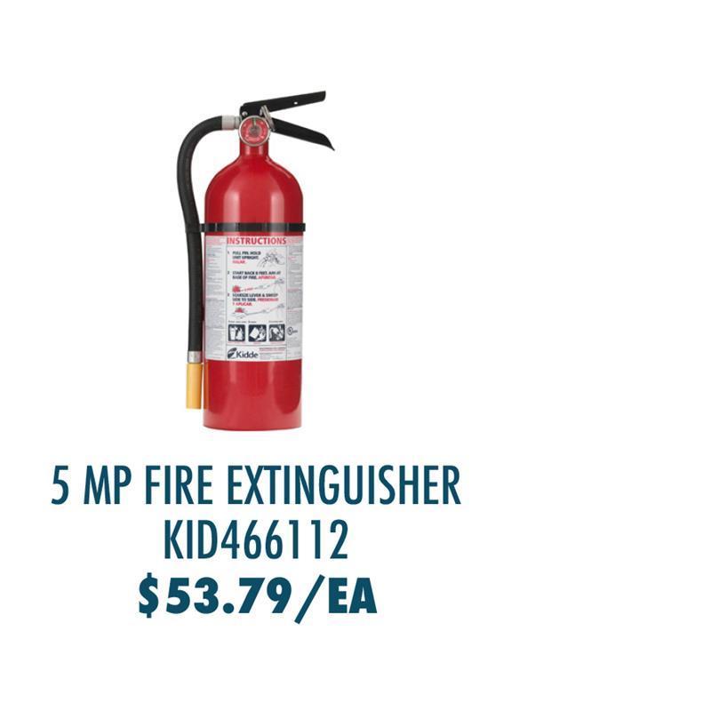 KID466112 Kidde Pro 5 MP Fire Extinguisher