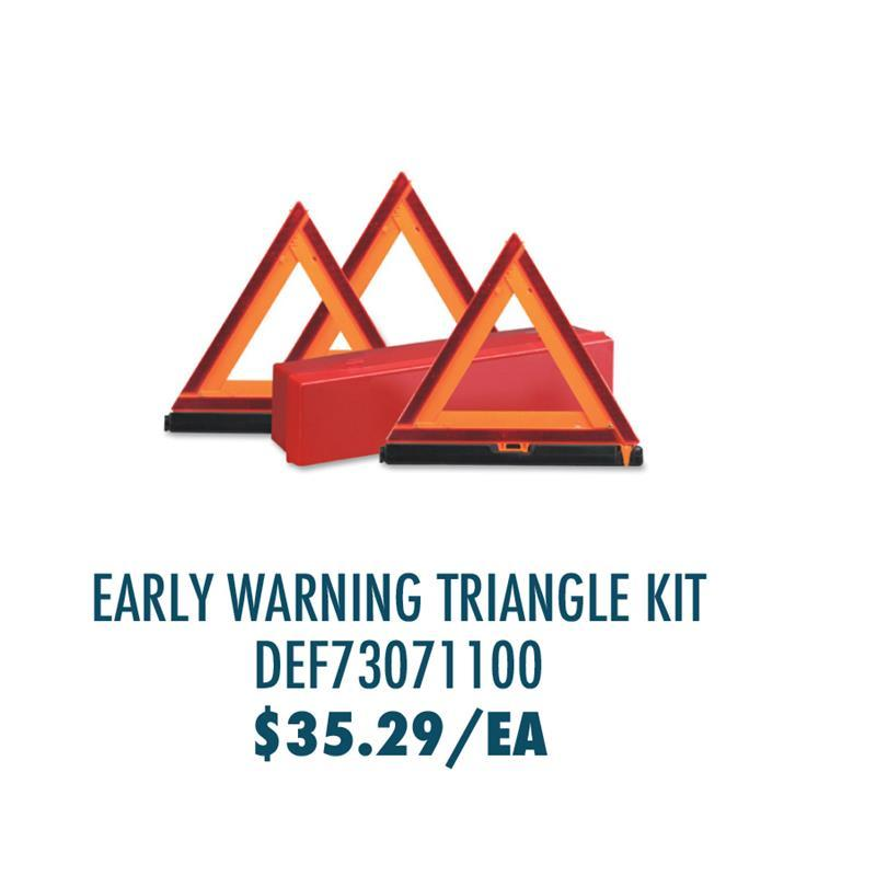 DEF70371100 Deflecto Early Warning Triangle Kit