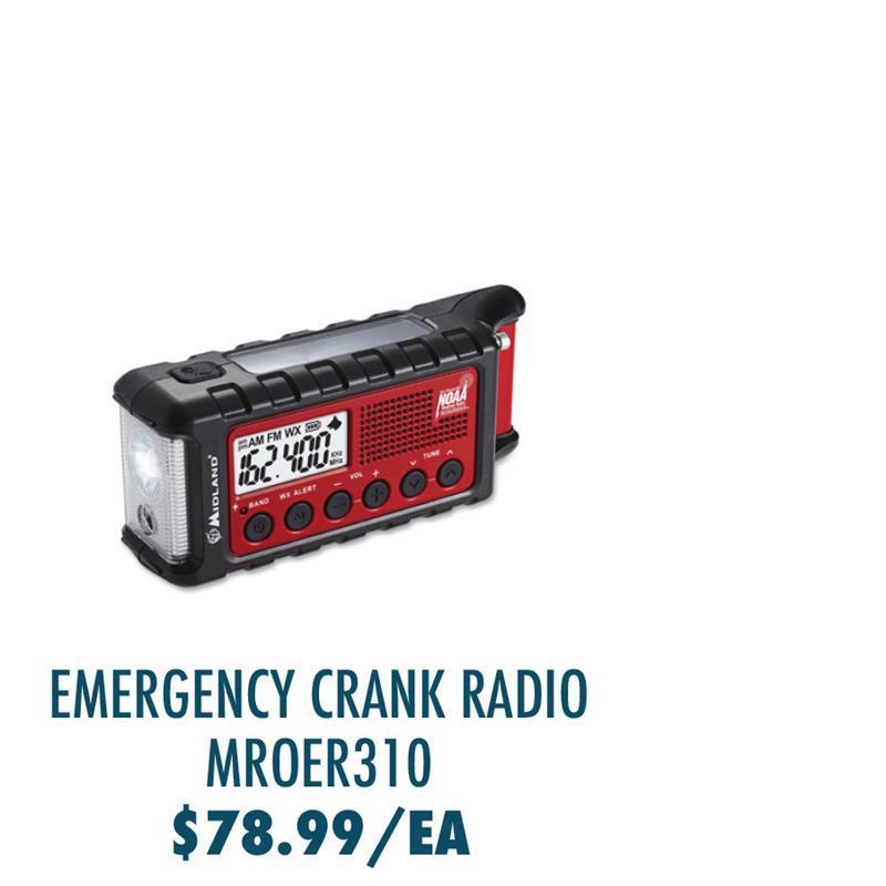 MROER310 Midland ER310 E+Ready Emergency Crank Weather Radio