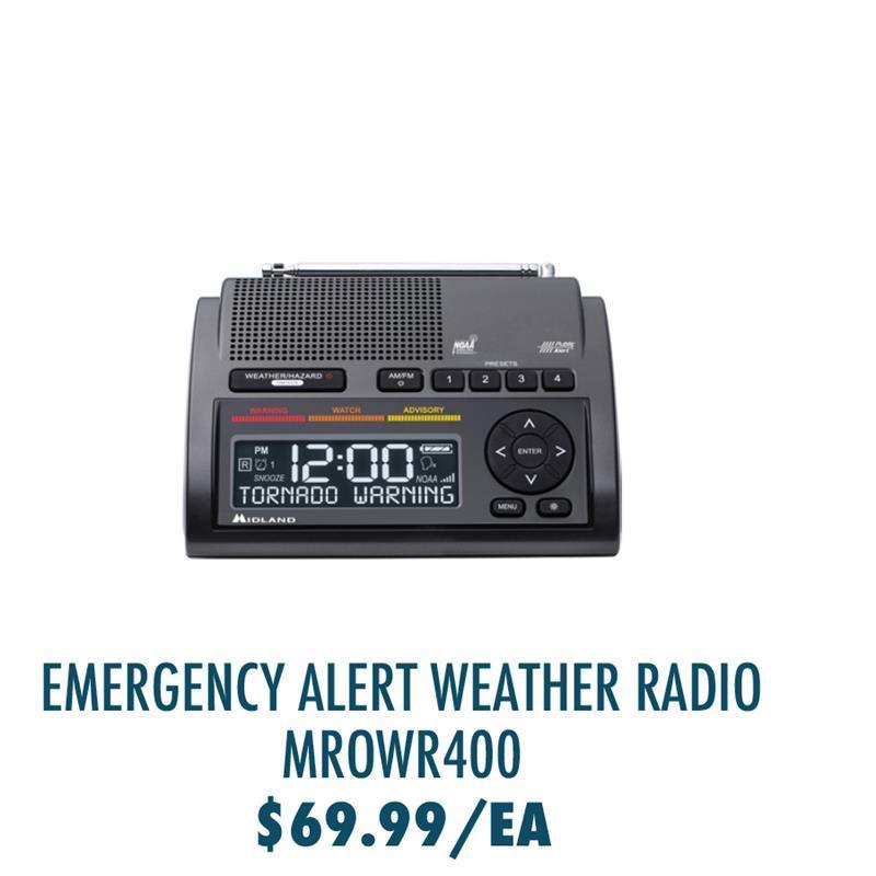 MROWR400 Midland WR400 Emergency Alert Weather Radio