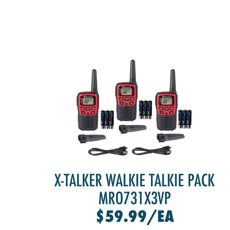 MROT31X3VP Midland X-Talker T31X3VP Walkie Talkie Three Pack