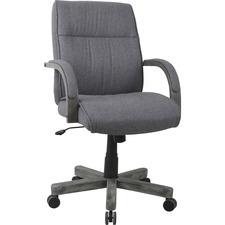 PAYLLR68569 Lorell Grey Fabric High-Back Executive Task Chair